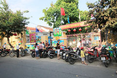 Hoi An street view in Vietnam Royalty Free Stock Images