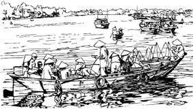 Hoi um porto em Vietnam Imagem de Stock Royalty Free