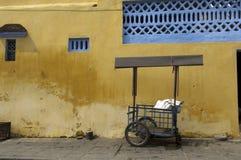 Hoi un carro de las exportaciones de Vietnam en frente fotografía de archivo