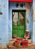 Hoi un venditore ambulante Fotografie Stock Libere da Diritti