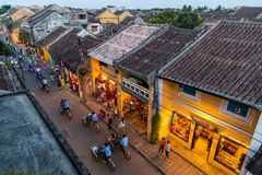 HOI AN, VIETNAM - CIRCA AUGUST 2015: People walking on the streets of old town Hoi An,  Vietnam Royalty Free Stock Image