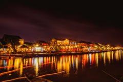 HOI, VIETNAM - 15 DE MARZO DE 2017: Hoi An en la noche Fotografía de archivo libre de regalías