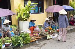 HOI AN, VIETNAM  Fruits and Veg Market Royalty Free Stock Photo
