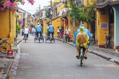 Hoi An Vietnam gammalt Cyclo Royaltyfri Foto
