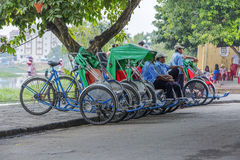 Hoi An Vietnam gammalt Cyclo Royaltyfri Bild