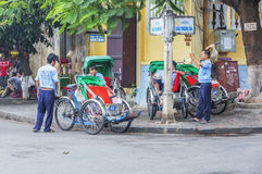 Hoi An Vietnam gammalt Cyclo Arkivfoton