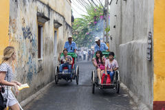 Hoi An Vietnam gammalt Cyclo Royaltyfri Fotografi
