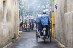 Hoi An Vietnam gammalt Cyclo Arkivbilder