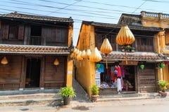 Hoi An, Vietnam - 21 giugno 2015: Vista da sopra dello stre di Tran Phu fotografia stock
