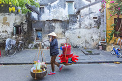 Hoi An, Vietnam. Life on street in Hoi An, Vietnam. Hoi An is a famous tourist destination in the world and Vietnam. Photo taken on: 27 July, 2015 royalty free stock images