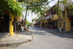 HOI, VIETNAM März 2015 - Hoi ist eine ruhige Stadt und viel einzigartiges Haus Jeder lieben Hoi, Vietnam Lizenzfreies Stockfoto