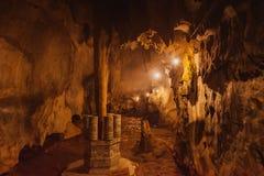 HOI, VIETNAM - 20. MÄRZ 2017: Marmor- Höhle, fünf Elementberge, Mittel-Vietnam Stockfotos