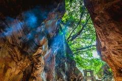 HOI, VIETNAM - 20. MÄRZ 2017: Marmor- Höhle, fünf Elementberge, Mittel-Vietnam Stockfotografie