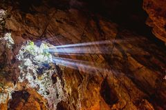 HOI, VIETNAM - 20. MÄRZ 2017: Marmor- Höhle, fünf Elementberge, Mittel-Vietnam Stockfoto