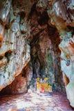 HOI, VIETNAM - 20. MÄRZ 2017: Marmor- Höhle, fünf Elementberge, Mittel-Vietnam Lizenzfreie Stockfotografie