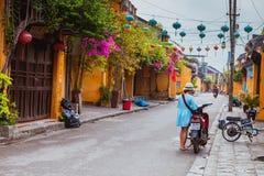 HOI, VIETNAM - 19. MÄRZ 2017: Morgen in alter Stadt Hoi Ans Lizenzfreies Stockfoto
