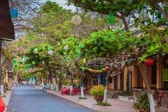HOI, VIETNAM - 19. MÄRZ 2017: Morgen in alter Stadt Hoi Ans Stockfoto