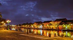 HOI, VIETNAM - 17. MÄRZ 2017: traditionelles gelbes Gebäude in Hoi An-Stadt Hoi An ist Welterbestätte und populärer Tourist Lizenzfreie Stockfotografie