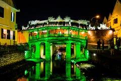 HOI, VIETNAM - MAART 17, 2017: Japanse brug Hoi An, Vietnam Stock Foto's