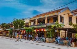 HOI, VIETNAM - MAART 17, 2017: Mening over de oude stad van Hoi An Vietnam Unesco World-Erfenisplaats Stock Afbeelding