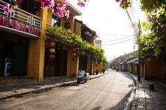 HOI, VIETNAM - MAART 19, 2017: Ochtend in de oude stad van Hoi An Royalty-vrije Stock Afbeeldingen