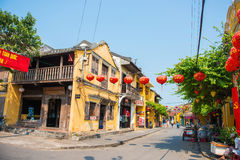Hoi An - Vietnam Mar 16 ::  nice town beautiful architecture at Royalty Free Stock Photo