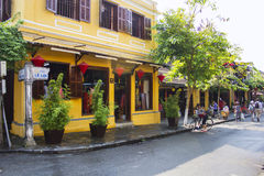 HOI AN, VIETNAM-MARCH 2015 - Hoi an is a peaceful city and a lot of unique house. Everyone love Hoi an, Vietnam.  Royalty Free Stock Photo
