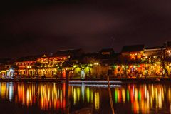 HOI AN, VIETNAM - MARCH 17, 2017: traditional yellow building in Hoi An city. Hoi An is world heritage site and popular tourist Royalty Free Stock Photos