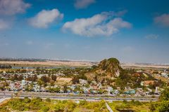 HOI AN, VIETNAM - MARCH 20, 2017: View of Marble hills in Ngu Hanh Son district, Vietnam Stock Photography