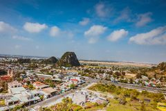 HOI AN, VIETNAM - MARCH 20, 2017: View of Marble hills in Ngu Hanh Son district, Vietnam Stock Photos
