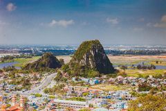 HOI AN, VIETNAM - MARCH 20, 2017: View of Marble hills in Ngu Hanh Son district, Vietnam Royalty Free Stock Photos