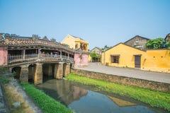 Hoi An - Vietnam Mars 16:: Japan täckt bro härlig ar Royaltyfria Bilder