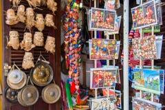 Hoi An - Vietnam Mars 16:: souvenir shoppar i Hoi An den forntida staden Fotografering för Bildbyråer