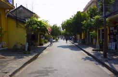 HOI, VIETNAM marzo de 2015 - Hoi es una ciudad pacífica y mucha casa única Todo el mundo ama Hoi, Vietnam Foto de archivo