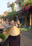 Hoi An - Vietnam Morning Market Street Scene Stock Images