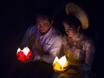 The Hoi An Full Moon Lantern Festival Royalty Free Stock Photography