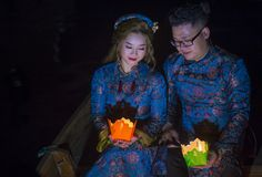 The Hoi An Full Moon Lantern Festival Stock Images