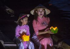 The Hoi An Full Moon Lantern Festival Royalty Free Stock Images