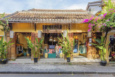Hoi An, Vietnam. Shop in Hoi An old town, Vietnam. Hoi An is a famous tourist destination in the world and Vietnam. Photo taken on: 27 July, 2015 royalty free stock photo