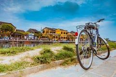 HOI, VIETNAME - 17 DE MARÇO DE 2017: Vista na cidade velha do local da herança de Hoi An Vietnam Unesco World Fotos de Stock