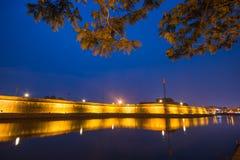 Hoi An - Vietname o 16 de março:: arquitetura bonita da cidade agradável na cidade antiga de Hoi An Foto de Stock Royalty Free