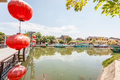 Hoi An is the World's Cultural heritage site, famous for mixed cultures & architecture. Stock Photos
