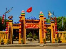 HOIAN,越南, 2017年9月, 04 :寺庙的美丽的景色在hoian的,在一个晴天在越南 免版税库存照片