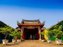HOIAN,越南, 2017年9月, 04 :寺庙的美丽的景色在hoian的,在一个晴天在越南 库存图片
