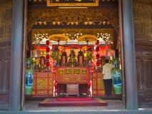 HOIAN,越南, 2017年9月, 04 :寺庙的美丽的景色在hoian的,在越南 库存照片