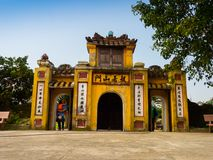 Hoian,越南- 2016年11月05日:老房子在会安市古镇,联合国科教文组织世界遗产 会安市是其中一多数 免版税库存照片