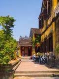 Hoian,越南- 2016年11月05日:老房子在会安市古镇,联合国科教文组织世界遗产 会安市是其中一多数 图库摄影