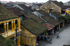 Hoian ancient town from high view in Vietnam. Royalty Free Stock Photos