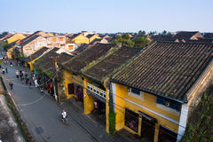 Hoian ancient town from high view in Vietnam. Stock Image