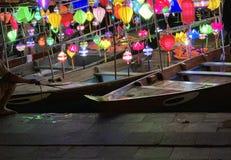 Hoian lyktafartyg royaltyfria foton
